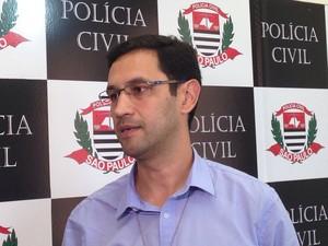 Delegado Luis Ricardo Lara, responsável pelas investigações (Foto: Guilherme Lucio da Rocha/G1)