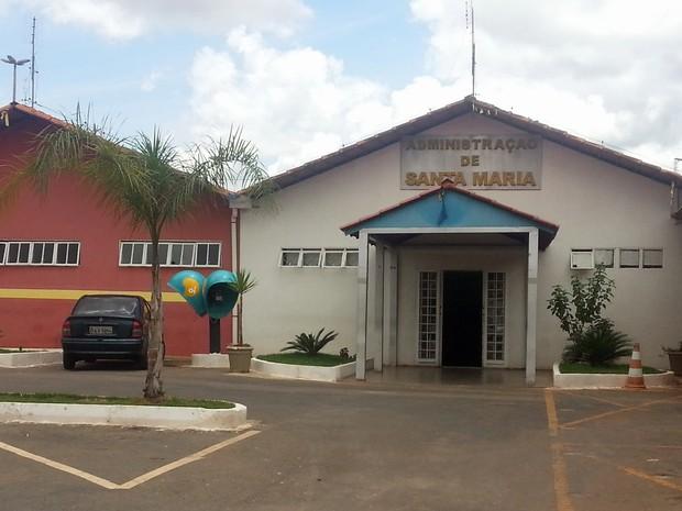 Sede da Administração Regional de Santa Maria (Foto: Raquel Morais/G1)