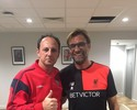 Durante curso para ser técnico, Ceni visita Liverpool e fala com Klopp