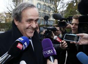 Michel Platini audiência TAS (Tribunal Arbitral do Esporte) (Foto: REUTERS/Denis Balibouse)