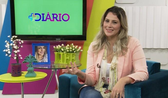 Jessica Leão no 'Mais Diário' deste sábado (30) (Foto: Reprodução / TV Diário )