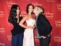 Zoe Saldana ganha estátua de cera e marido brinca com réplica da atriz