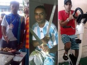 Presos ostentam churrasco, armas e esteira em penitenciária (Foto: Sindicato dos Servidores Penitenciários da Bahia (Sinspeb))