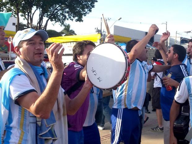 Argentinos estão em Belo Horizonte para jogo contra o Irã (Foto: Raquel Freitas / G1)