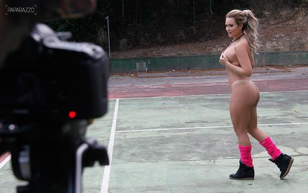 Making of - Geisy Arruda posa para o Paparazzo (Foto: Alexandre Campbell / Paparazzo)