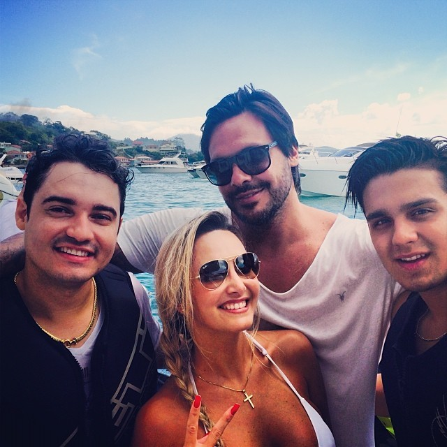 Fernando, Fabi Ribeiro, Gustavo Mendonça e Luan Santana (Foto: Reprodução/Instagram)