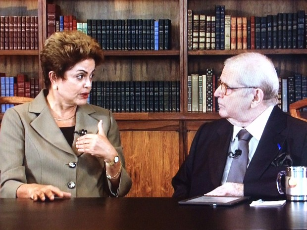 A presidente Dilma Rousseff durante entrevista ao Programa do Jô (Foto: Reprodução)