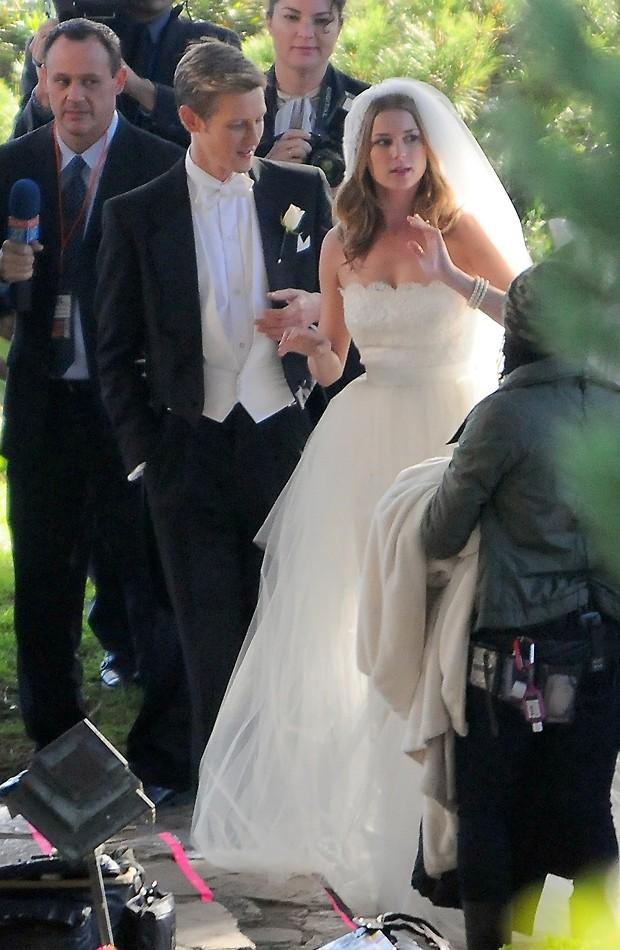A cena do casamento de Emily Thorne (Foto: AKM/GSI-Brasil)