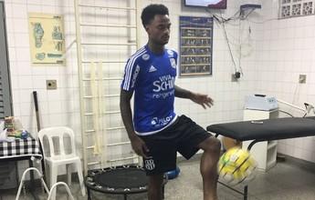 Dez dias após cirurgia, Renê Júnior  faz trabalho de recuperação na Ponte