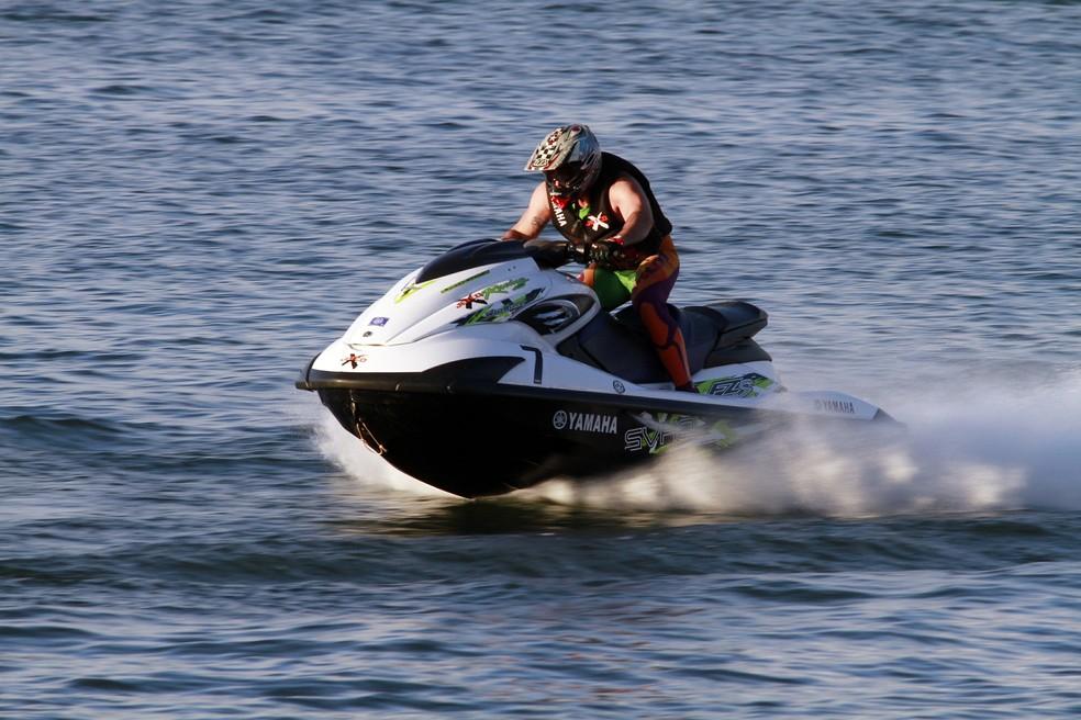 Valdir Brito Júnior foi bicampeão na categoria Runabout Pro Turbo GP, no 29º Campeonato Brasileiro de Moto Aquática (Foto: Denny Cesare)