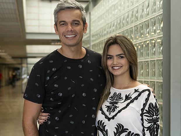 Suzanna Freitas reencontrou o apresentador Otaviano Costa (Foto: Inácio Moraes / Gshow)