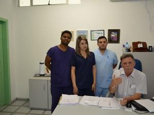 Equipe que fez a cirurgia de Jacira (Foto: Jonatas Boni/G1 RO)