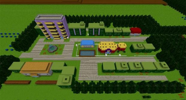 Jogador de 'Minecraft' recria região dos games da série 'Pokémon' (Foto: Reprodução/YouTube/MediocreJake)