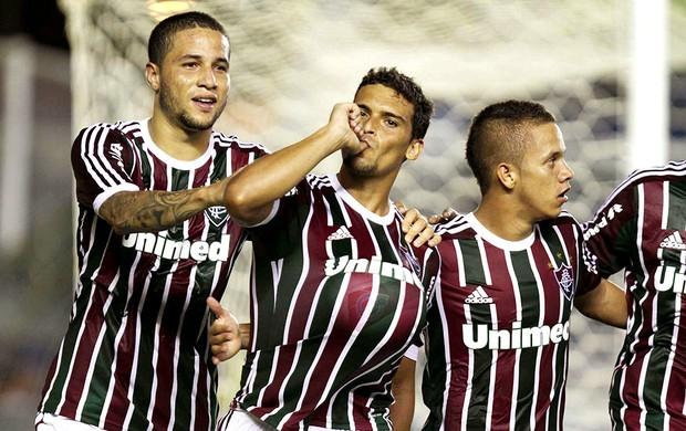 Jean comemora gol do Fluminense contra o Quissamã (Foto: Ricardo Ayres / Photocamera)
