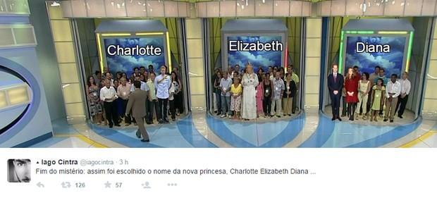 Repercussão do nome da princesa (Foto: Reprodução/Twitter)