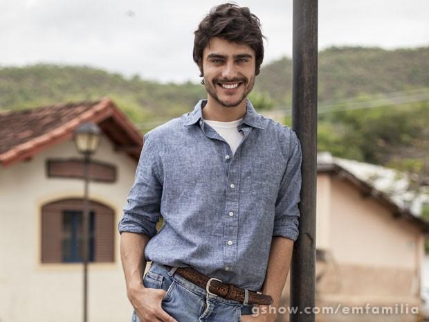Guilherme Leicam será Laerte, na segunda fase de Em Família (Foto: Inácio Moraes / TV Globo)