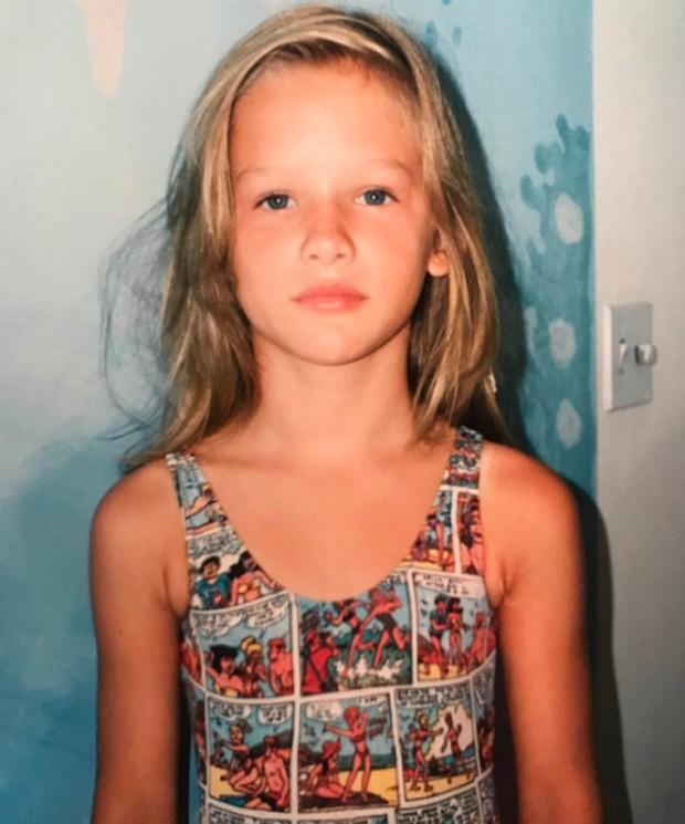 Fiorella Mattheis na infância (Foto: Reprodução/Instagram)