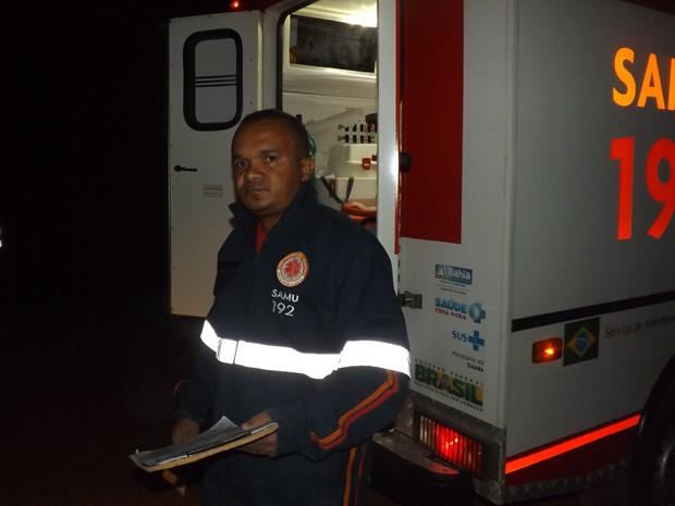 Jarbas Macedo é socorrista do Samu e atendeu acidente do irmão (Foto: Salomão Correia / site Alô Alô Salomão)