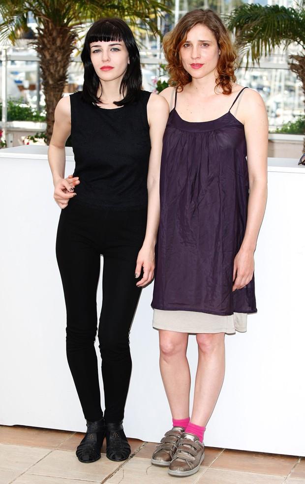 Mary Tsoni e Aggeliki Papoulia no Festival de Cannes de 2009 (Foto: Getty Images)