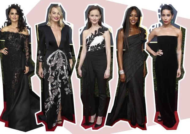 Tendências do Golden Globe (Foto: Arte Vogue Online)