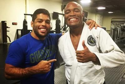 André Galvão e Anderson Silva (Foto: reprodução/Instagram)