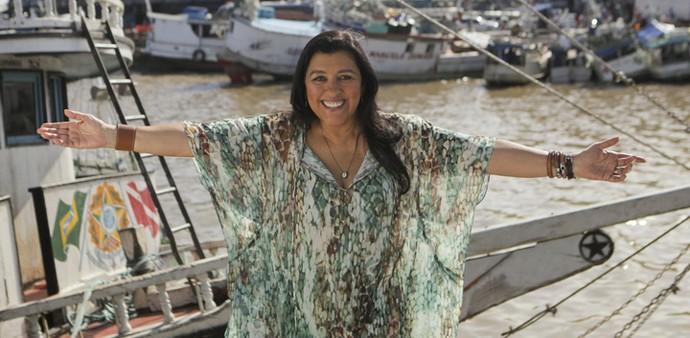 Regina posa no Pará (Foto: João Pedro Januário)