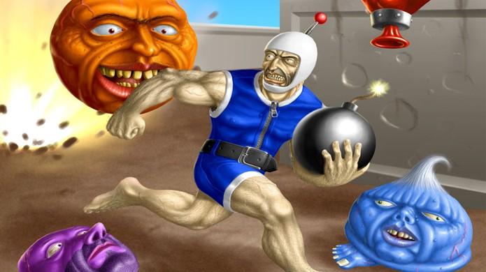 O mascote Bomberman já se envolveu em muitos jogos estranhos (Foto: Reprodução/Handre)