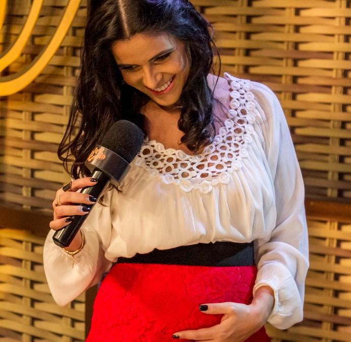 Shana Müller Galpão Crioulo Três Coroas (Foto: Maicon Hinrichsen/RBS TV)