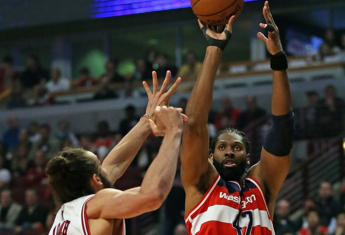 Nenê, Joakim Noah, Washington Wizards, Chicago Bulls, NBA (Foto: Getty Images)