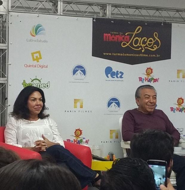 Mônica e Maurício de Souza (Foto: Marina Bonini)