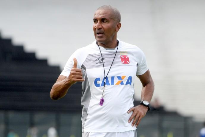 Cristóvão Borges no treino do Vasco desta quarta-feira (Foto: Paulo Fernandes/Divulgação)
