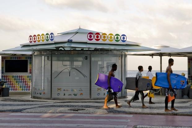 Quiosque da Globo Rio fica na na Avenida Atlântica, s/n (altura da Rua Miguel Lemos), em Copacabana (Foto: Divulgação)
