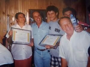 Dinho foi homenageado com o título de Cidadão Dracenense (Foto: Célia Alves/Arquivo Pessoal)