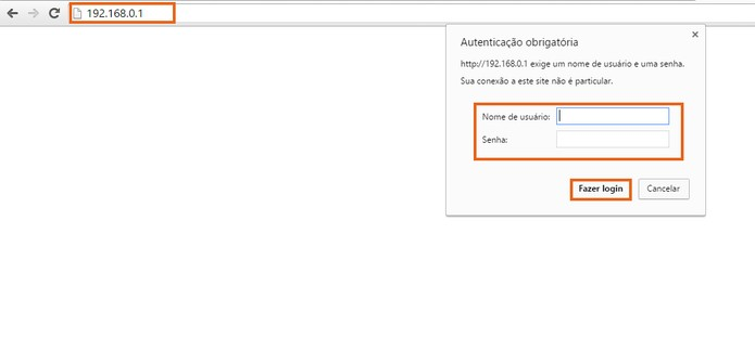Digite o número no navegador e depois faça o login padrão (Foto: Reprodução/Barbara Mannara)