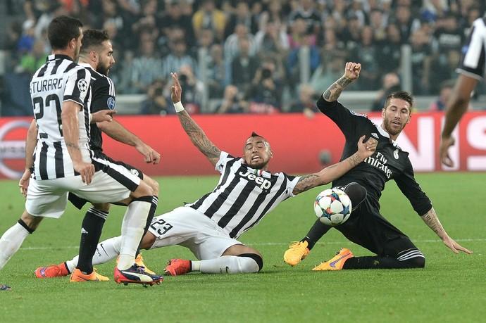 Sergio Ramos - Juventus x Real Madrid (Foto: AP)