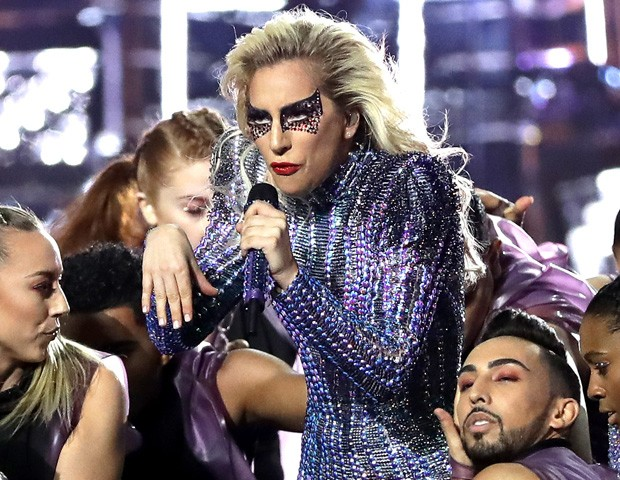 Lady Gaga durante o Super Bowl (Foto: Getty Images)