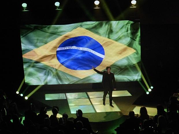 Jonas aproveita evento de lançamentos da Marra Internacional para fazer anúncio (Foto: Geração Brasil / TV Globo)