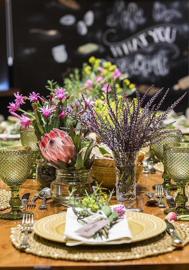 Ideias para decorar um brunch com as cores da primavera (Foto: Douglas Daniel)