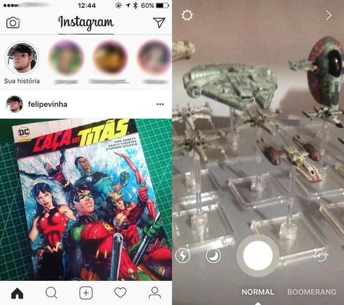 Instagram permite gravar Stories sem as mãos, saiba como fazer (Foto: Reprodução/Felipe Vinha)