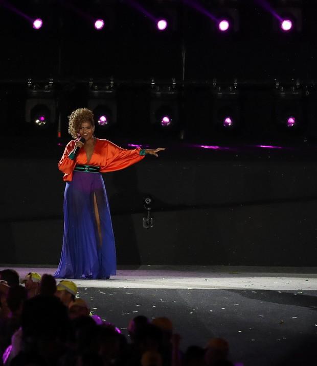 Gaby Amarantos Cerimônia de encerramento da Paralimpíada (Foto: Glaucon Fernandes/AgNews)