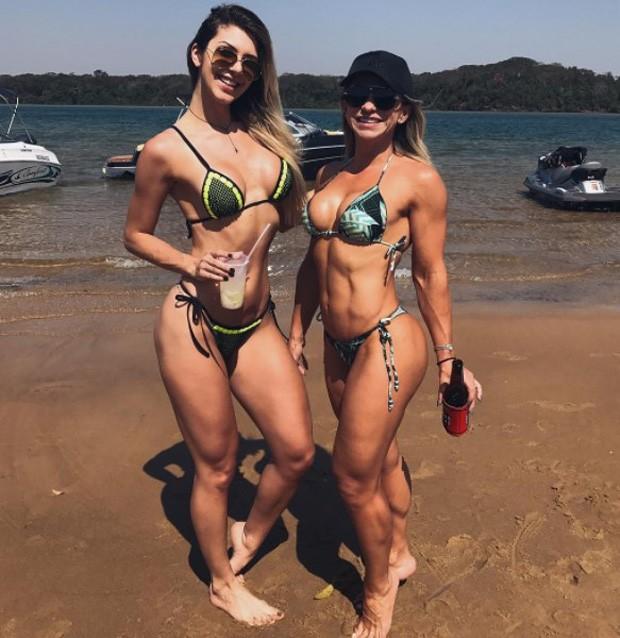 Tatiele Polyana e a sogra, Ligia Urbano (Foto: Reprodução/Instagram)