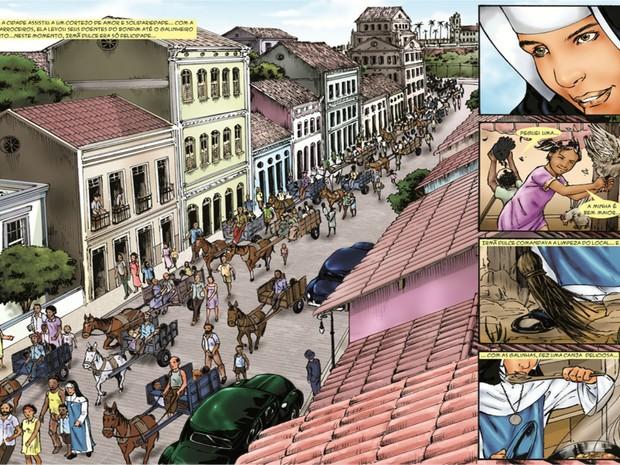 Revista conta episódios da vida da beata baiana (Foto: Reprodução)