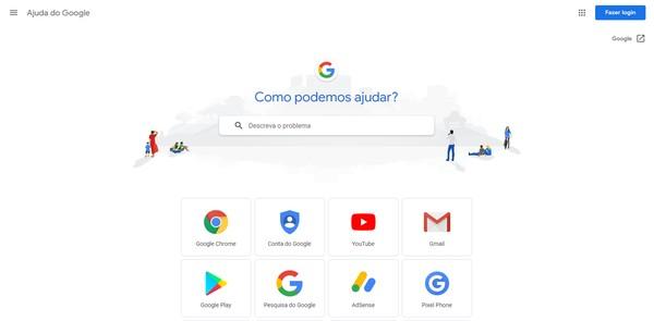 Suporte Google (Foto: Suporte Google)