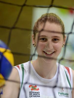 Daniela Seibt é fã de Thaísa, da seleção feminina de vôlei (Foto: Alexandre Loureiro/Inovafoto/COB)