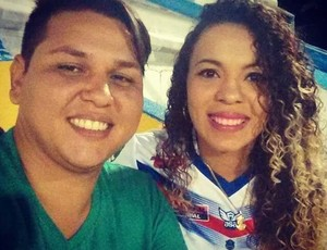 Armando Durante e sua nutricionista Elissandra Cecília, nos dez primeiros quilos eliminados (Foto: Armando Durante/ arquivo pessoal)