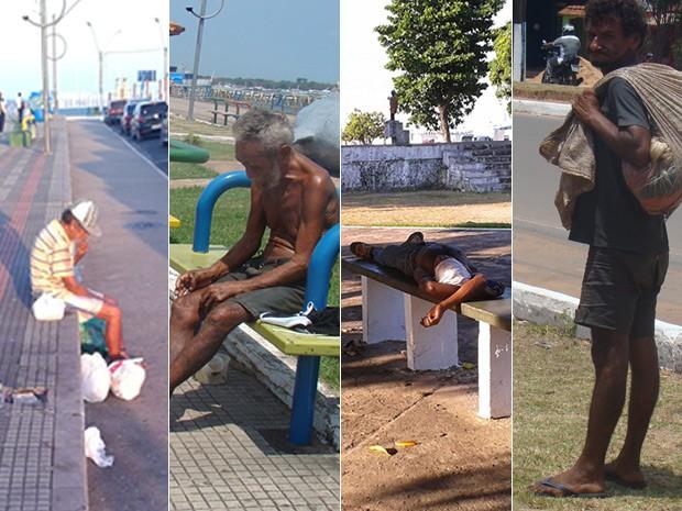 Moradores de rua em Santarém não contam hoje com nenhum centro de acolhimento (Foto: Karla Lima/G1)
