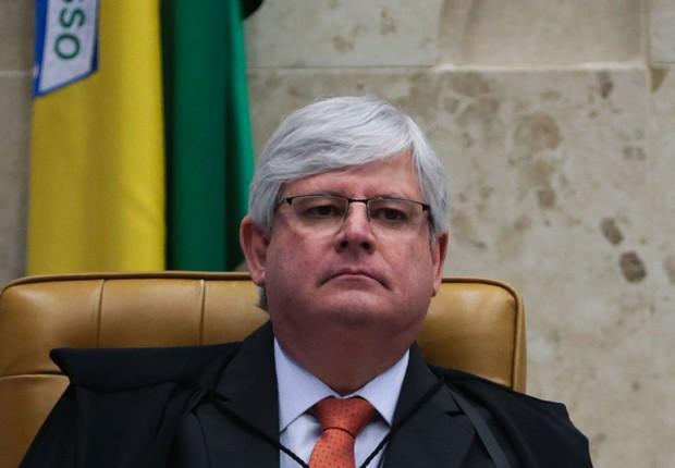 O procurador-geral da República, Rodrigo Janot , durante sessão no STF que julgou afastamento de Renan Calheiros da presidência do Senado (Foto: José Cruz/Agência Brasil)