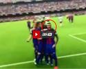 Vídeo mostra Neymar provocando torcida do Valencia após gol de Messi