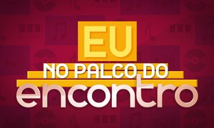 'Eu no Palco do Encontro' (Foto: TV Globo)