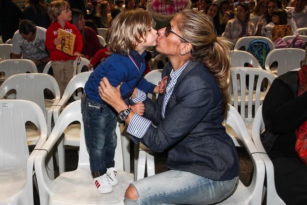 Adriane Galisteu e Vittório (Foto: Manuela Scarpa/Foto Rio News)